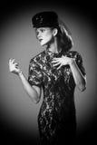 Concept de mode élevée avec un beau femme photographie stock