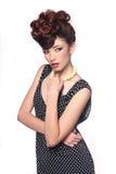 Concept de mode élevée avec un beau femme Photos stock
