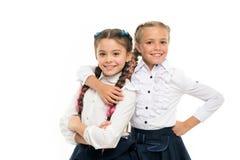 Concept de mode d'école Soyez lumineux Amitié d'école Relations et soulmates de fraternité Sur la même vague écolières photo libre de droits