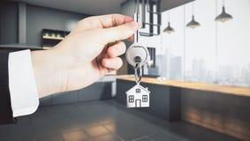 Concept de mode de vie et d'hypothèque Photos stock