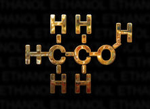 Concept de molécule d'éthanol Photos libres de droits