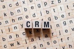 Concept de mot de Crm photos stock