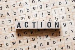 Concept de mot d'action photographie stock
