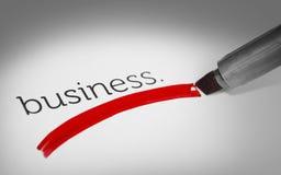 Concept de mot d'affaires Photographie stock