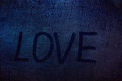 Concept de mot d'amour Photographie stock
