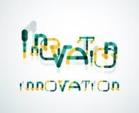 Concept de mot d'innovation Images stock