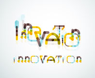Concept de mot d'innovation Photo stock