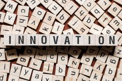 Concept de mot d'innovation image libre de droits