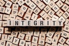 Concept de mot d'intégrité image stock