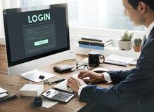 Concept de mot de passe d'username d'adhésion d'identifiez-vous de membre image libre de droits