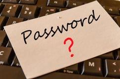 Concept de mot de passe sur le clavier Images libres de droits