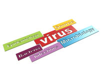 Concept de mot du virus 3d illustration stock