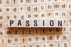 Concept de mot de passion images stock