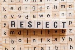 Concept de mot de respect photographie stock libre de droits