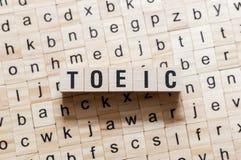 Concept de mot de Toeic photo stock