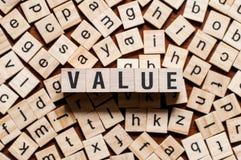 Concept de mot de valeur photo stock