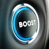 Concept de motivation - bouton de poussée Photographie stock