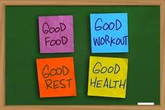 Concept de motivation de mots de santé photos stock