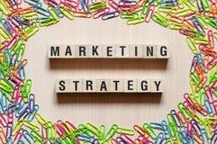 Concept de mots de stratégie marketing photographie stock libre de droits