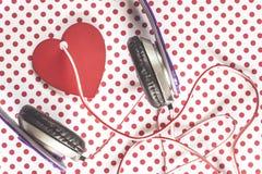 Concept de musique d'amour Photographie stock