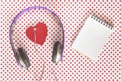 Concept de musique d'amour Photographie stock libre de droits