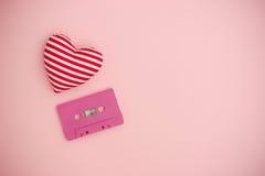Concept de musique d'amour Rose rouge Photos libres de droits