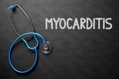 Concept de myocardite sur le tableau illustration 3D Photographie stock libre de droits