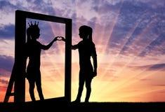 Concept de narcissisme et d'égoïsme Image libre de droits
