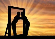 Concept de narcissisme et d'égoïsme Images stock