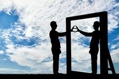 Concept de narcissisme et d'égoïsme Images libres de droits