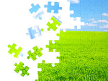 Concept de nature - puzzles 3d Images stock