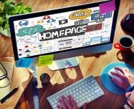 Concept de navigateur d'adresse de contenu de disposition de page d'accueil images libres de droits