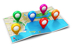 Concept de navigation de GPS Photo libre de droits