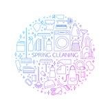 Concept de nettoyage, affiche Photographie stock libre de droits