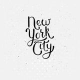 Concept de New York City sur le blanc pointillé Images libres de droits