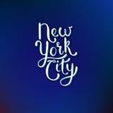 Concept de New York City sur Violet Background bleue Image stock