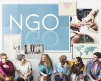 Concept de NGO Contribution Corporate Foundation Nonprofit photo stock