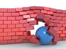 Concept de négociation d'obstacle Images stock