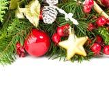 Concept de Noël avec les boules rouges de Noël image libre de droits