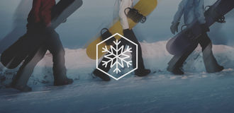 Concept de Noël de tempête de neige de flocon de neige d'hiver de neige Photo libre de droits