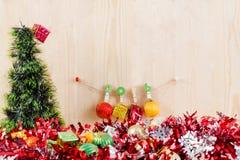 Concept de Noël, fond abstrait pendant la bonne année 2016 Photos stock