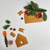 Concept de Noël de nourriture photos libres de droits