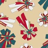 Concept de Noël de ruban, vecteur sans couture de modèle Image libre de droits