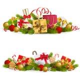 Concept de Noël de vecteur avec des cadeaux illustration de vecteur