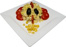 Concept de nourriture. Crabe Photographie stock