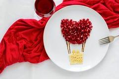 Concept de nourriture d'art Ballon à air avec des couples photo stock