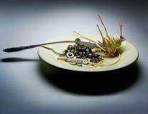 Concept de nourriture industrielle Images libres de droits
