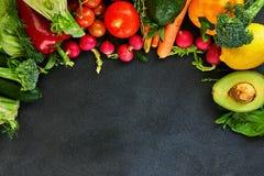 Concept de nourriture saine, de légumes frais et de fruits photo libre de droits