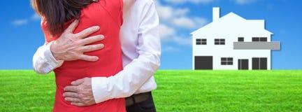 Concept de nouveaux houseowners heureux Photo stock