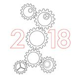 Concept 2017 de nouvelle année - Images stock
